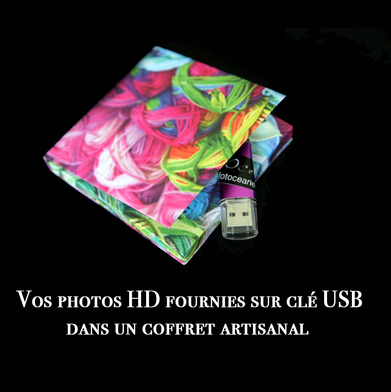 photos sur clé usb apres shooting