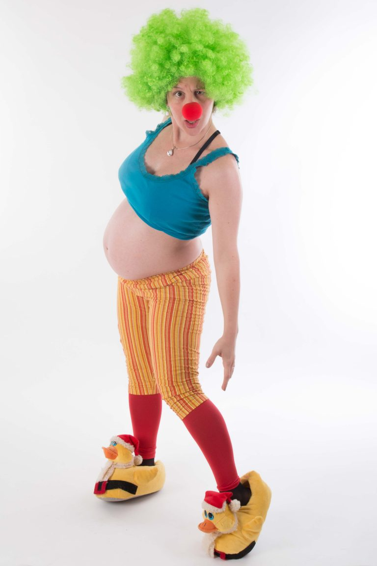 photo de grossesse en clown