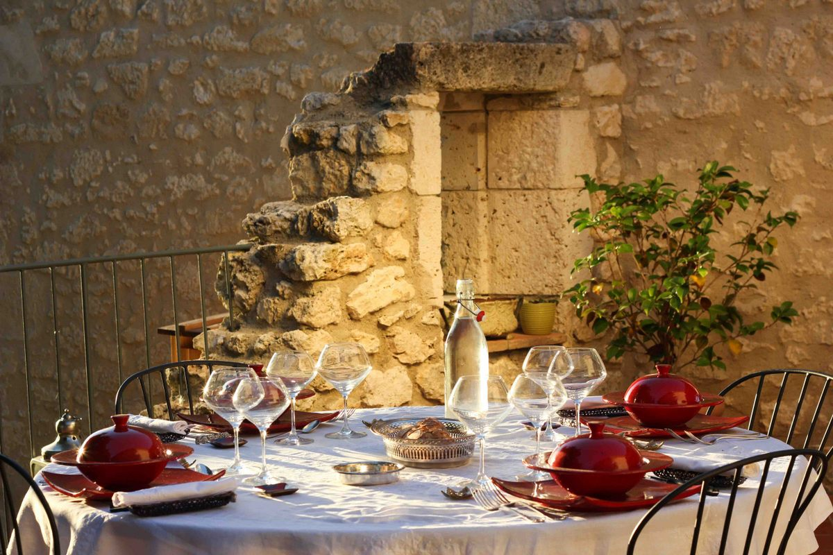 Photo d'ambiance : table du dîner