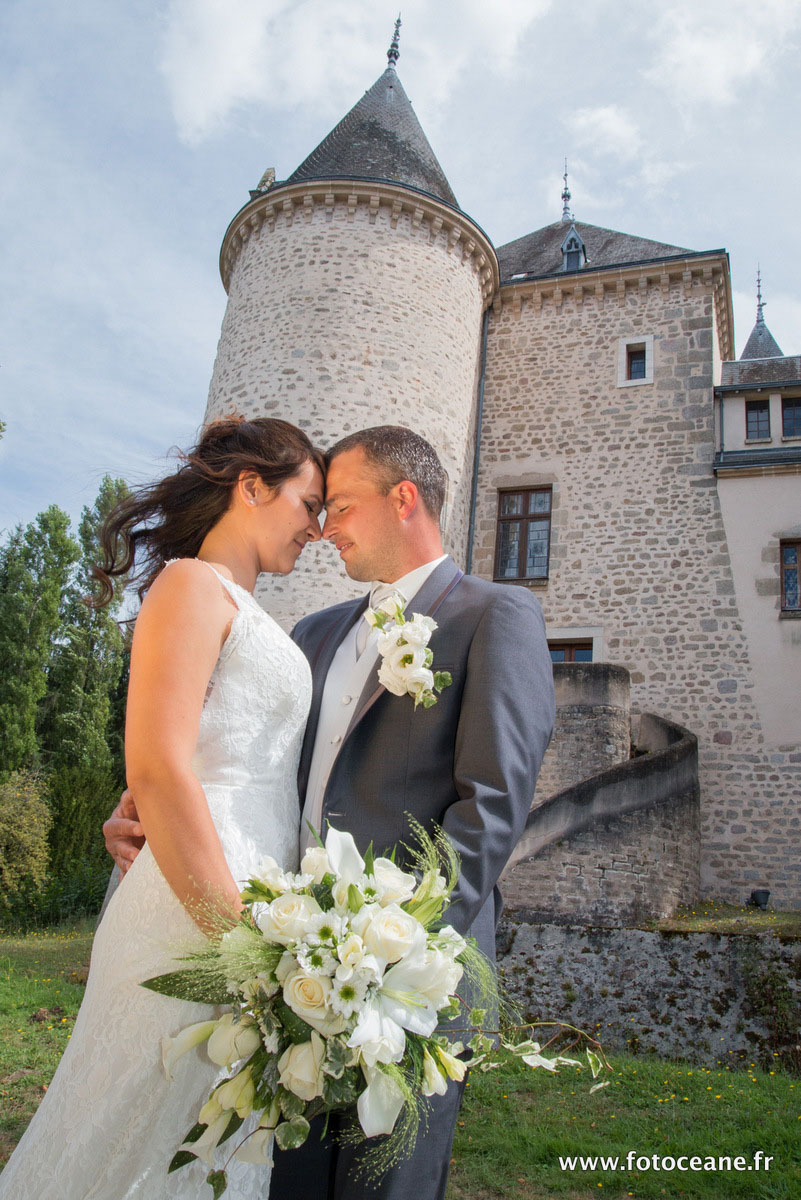 photo de couple au chateau de Nieul