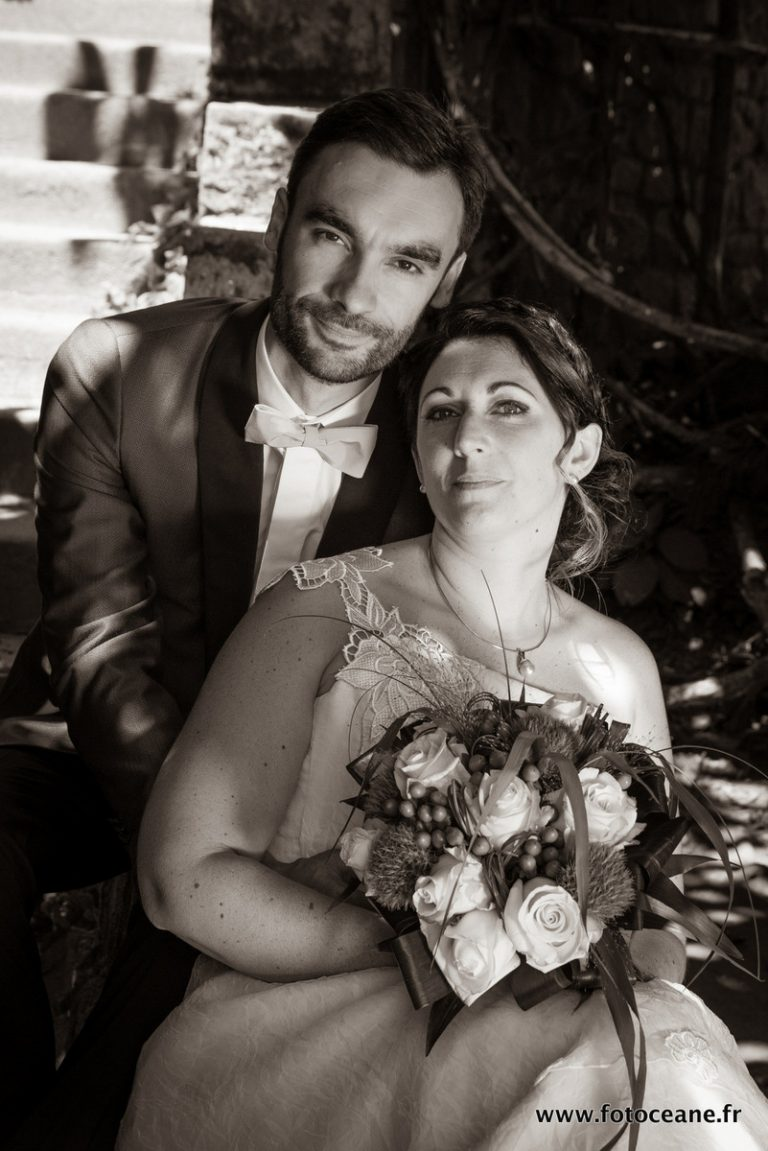 photo de mariage : couple en portrait