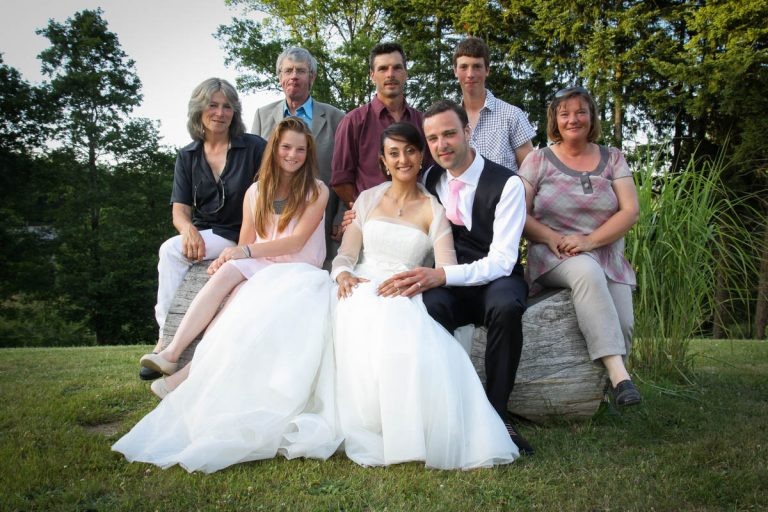 Photo de mariage : photo de groupe