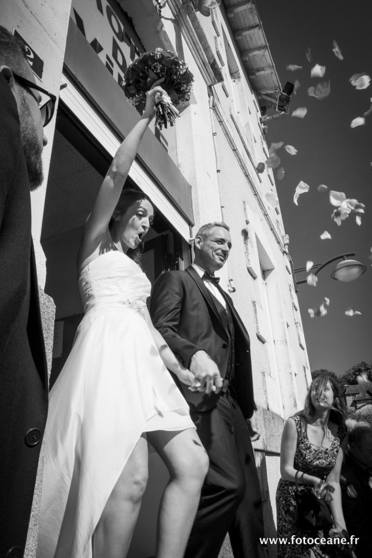reportage mariage : sortie mairie